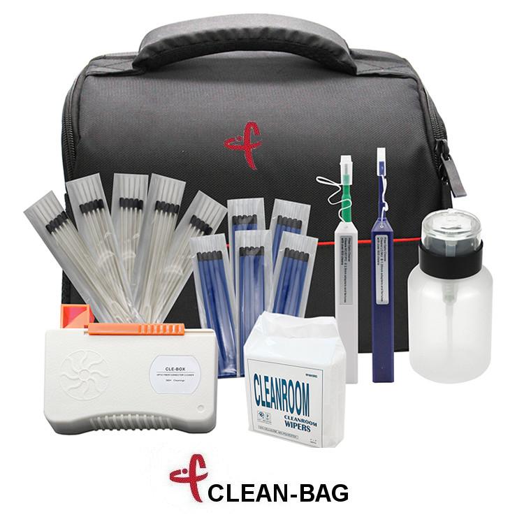 CLEAN BAG Set di attrezzi per pulizia connettori fibra ottica